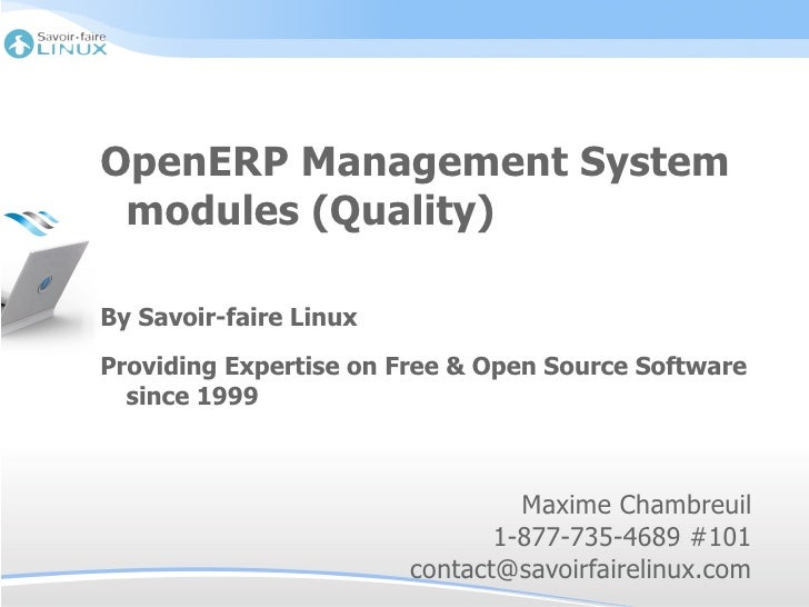 OpenERP Management system modules