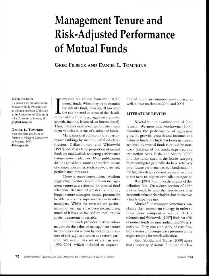 Mgmt tenureandriskadjustedperformance filbeck