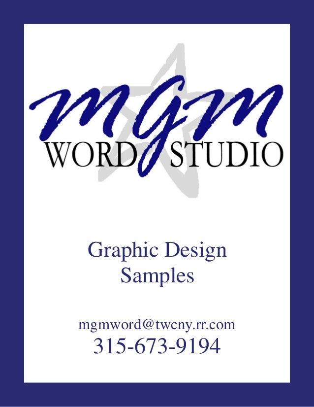 Mgm word studio portfolio 2013