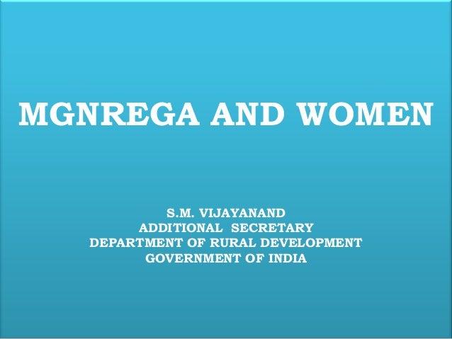 Mgnrega and women