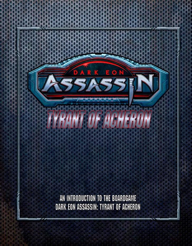 Tyrant of Acheron   An Introduction to the Boardgame Dark Eon Assassin: Tyrant of Acheron