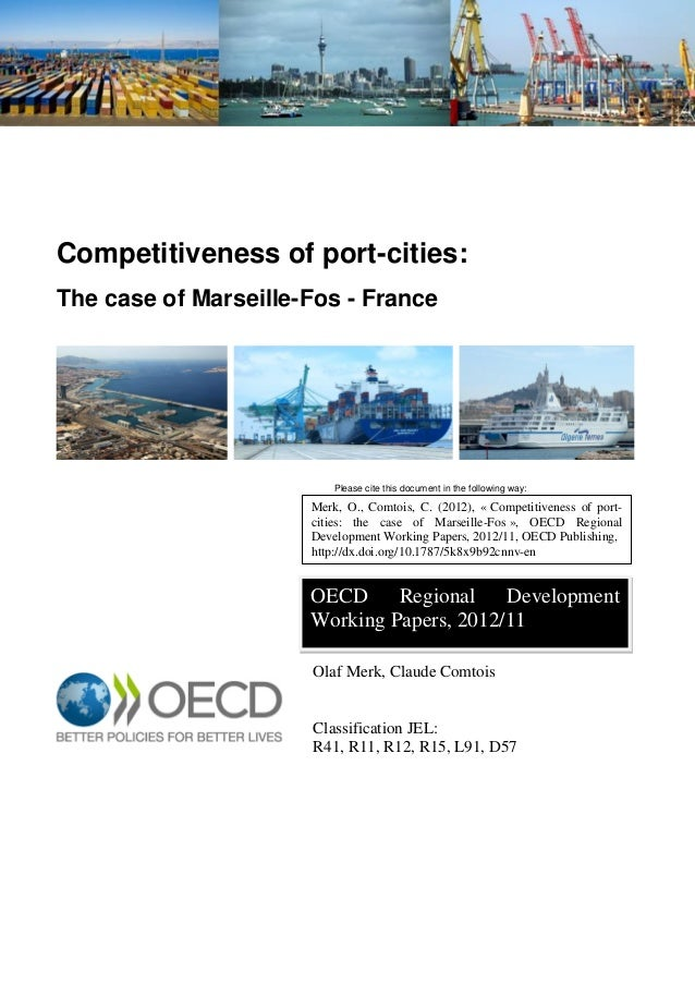 she'd be free for lunch from 12:45pm-2:30pm or anytime between 4pm-6pm. Competitiveness of port-cities: The case of Marsei...