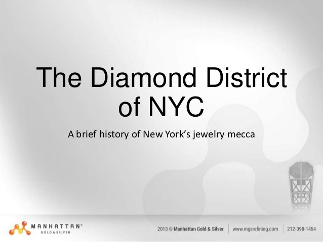 The Diamond District of NYC A brief history of New York's jewelry mecca