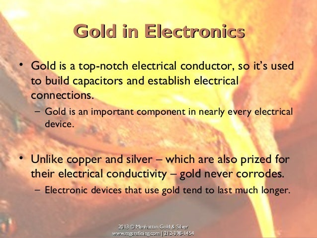 Uses For Gold Electronic : Uses of gold in electronics