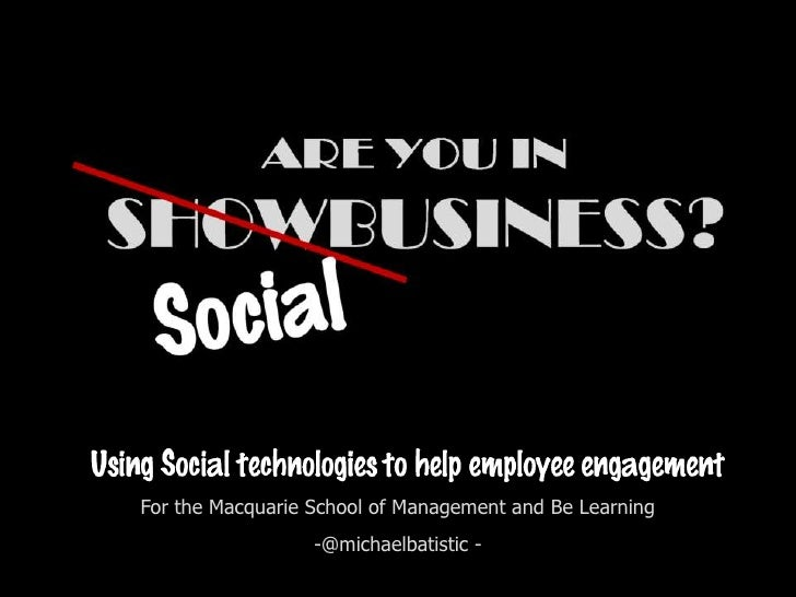 Using Social to help Employee Engagement