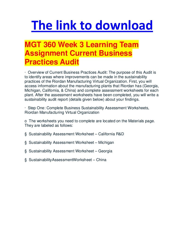 mgt 498 week 5 team reflection
