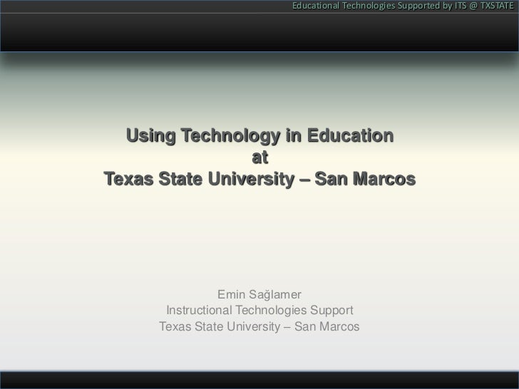 Educational Technologies at Texas State University