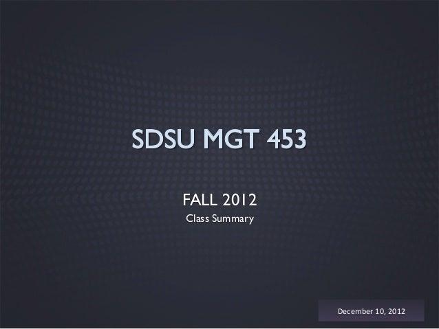Mgt 453 fall2012 summary