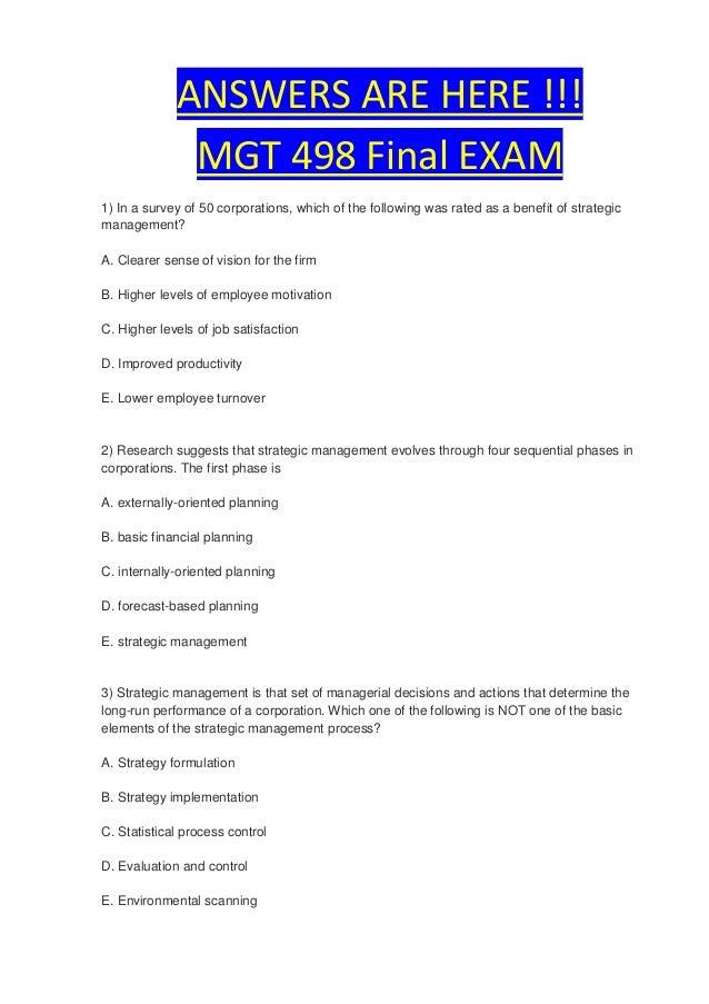 mgt 498 week 5 final exam