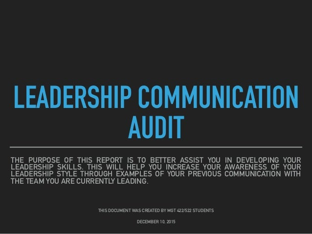leadership audit analysis 2 Analysis to check your progress step 3: plan step 4: do step 5: check 51 leadership and commitment 51, 52 52 policy 53 53 organizational roles, responsibilities and iso 9001:2015 transition information.
