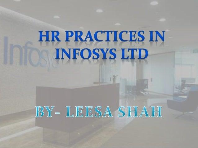 HR practices in infosys Ltd