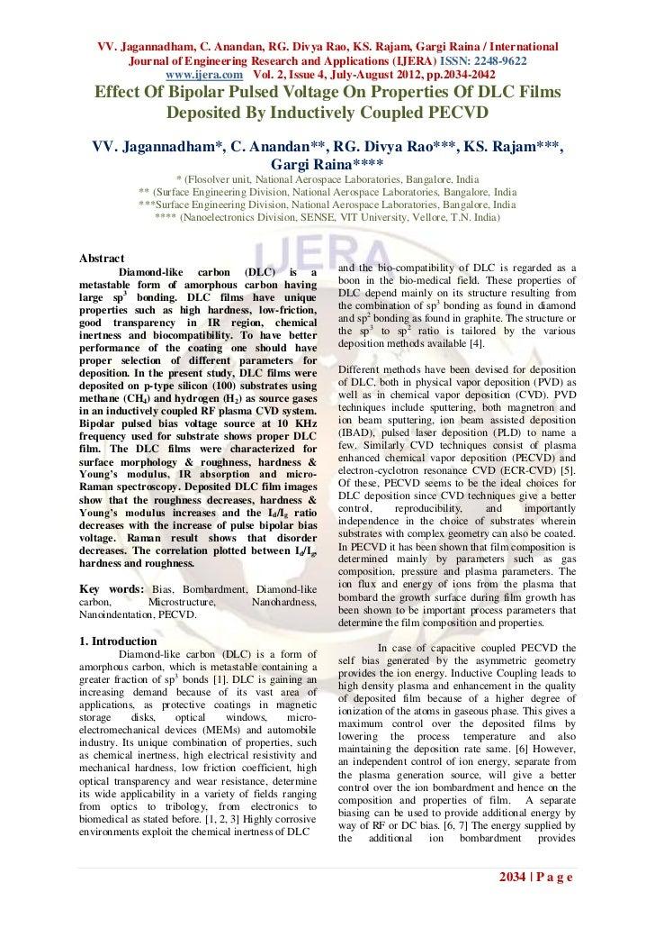 VV. Jagannadham, C. Anandan, RG. Divya Rao, KS. Rajam, Gargi Raina / International         Journal of Engineering Research...
