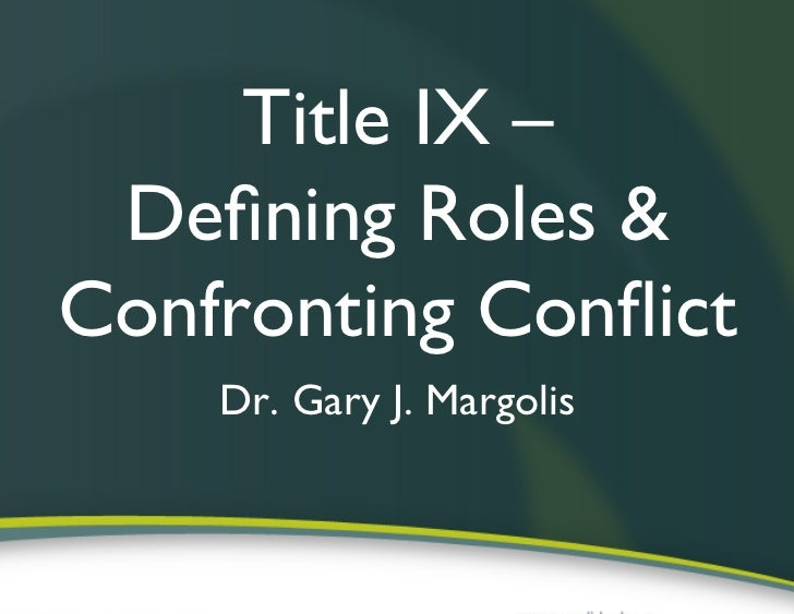 title ix legislation analysis In order to analyze title ix today, it is important to understand its history as   once title ix was signed into law, it did not just sit quietly in the.