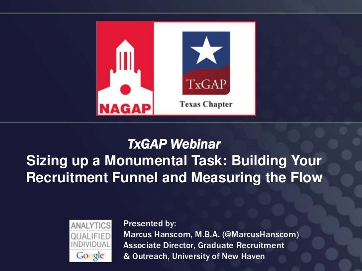 TxGAP Webinar: Sizing Up A Monumental Task: Building Your Recruitment Funnel and Measuring the Flow