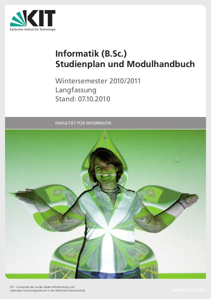 Informatik (B.Sc.)                                  Studienplan und Modulhandbuch                                  Winters...