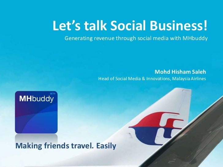 Let's talk Social Business!              Generating revenue through social media with MHbuddy                             ...