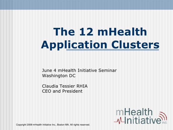mHealth Application Clustrs.Tessier