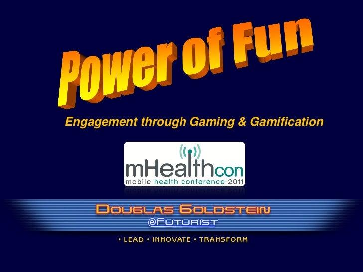 MHealthcon 2011 Present - Douglas Goldstetin on Engagement Through Gaming
