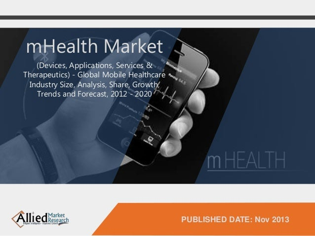 mHealth market is expected to reach $58.8 billion globally by 2020 according to Allied Market Research projections