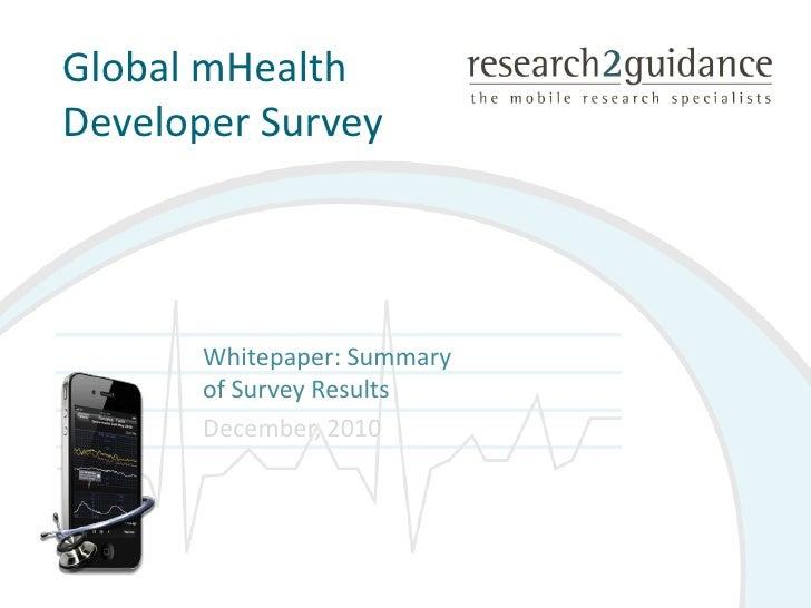 mHealth survey summary whitepaper