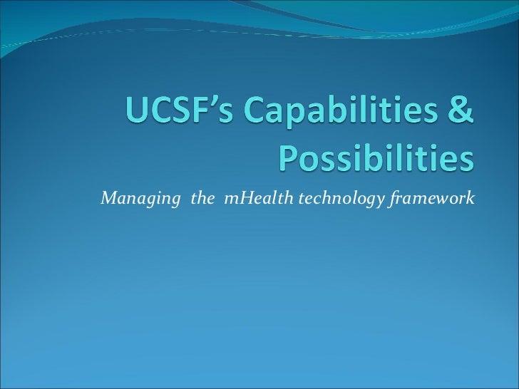 Managing the mHealthtechnology framework