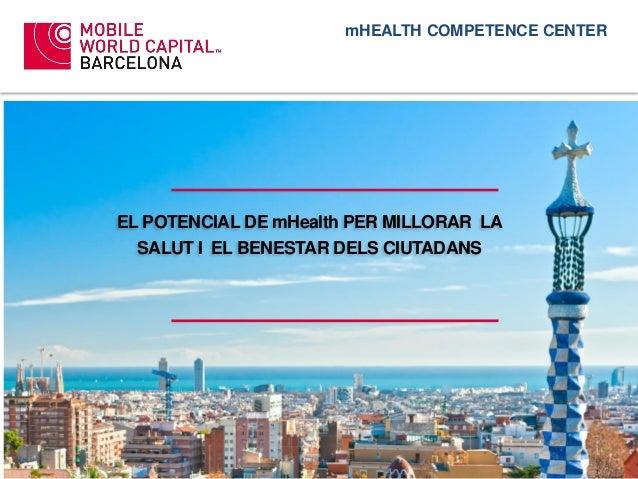 EL POTENCIAL DE mHealth PER MILLORAR LA SALUT I EL BENESTAR DELS CIUTADANS mHEALTH COMPETENCE CENTER