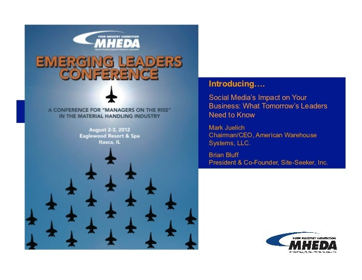MHEDA Emerging Leaders Conference - Social Media's Impact on Your Business: What Tomorrow's Leaders Need to Know