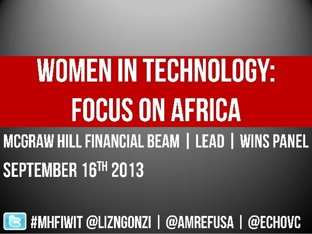 Women in Technology: Focus on Africa Panel at S&P