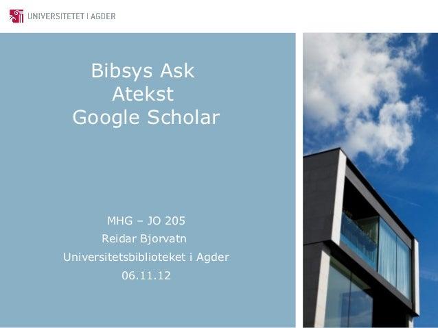 Mhg jo 205   bibsys, atekst, google scholar