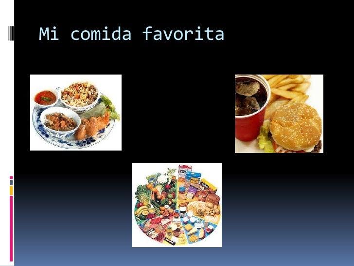 Mi comida favorita