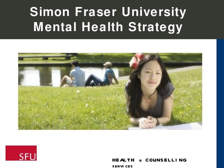 Simon Fraser University Mental Health Strategy