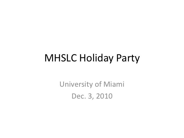 MHSLC holiday party 2010
