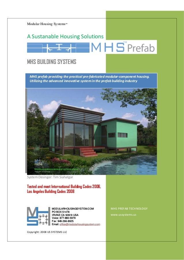 Modular Housing Systems™                                                                                                 ...