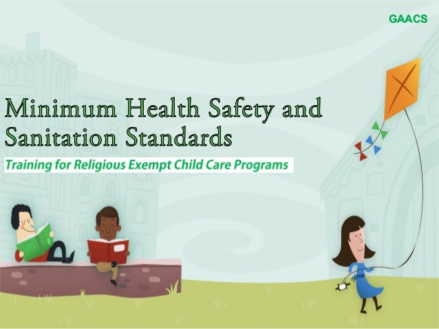 Minimum Health, Safety, and Sanitation Standards Training I