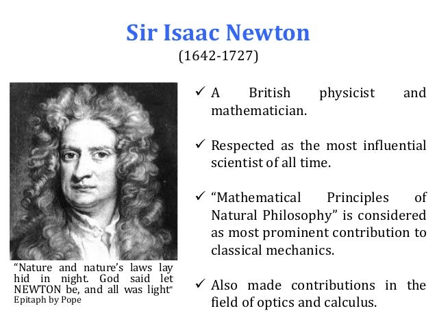the contribution of isaac newton to math and science