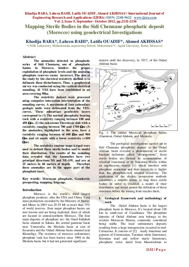 Khadija BABA, Lahcen BAHI, Latifa OUADIF, Ahmed AKHSSAS / International Journal of     Engineering Research and Applicatio...