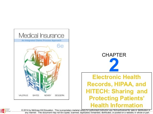 CHAPTER  2  Electronic Health Records, HIPAA, and HITECH: Sharing and Protecting Patients' Health Information © 2014 by Mc...