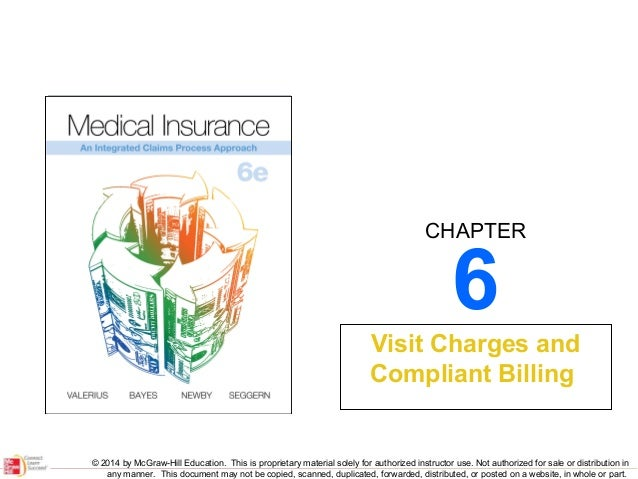 CHAPTER  6  Visit Charges and Compliant Billing  © 2014 by McGraw-Hill Education. This is proprietary material solely for ...
