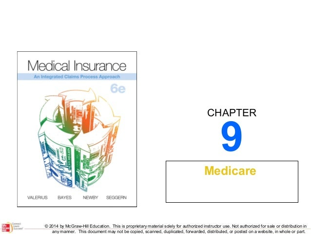 CHAPTER  9  Medicare  © 2014 by McGraw-Hill Education. This is proprietary material solely for authorized instructor use. ...