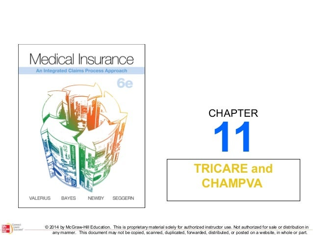 CHAPTER  11  TRICARE and CHAMPVA  © 2014 by McGraw-Hill Education. This is proprietary material solely for authorized inst...