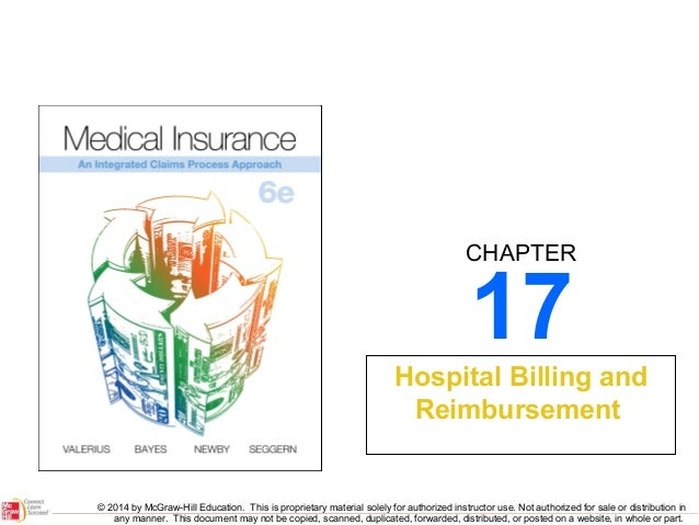 CHAPTER  17  Hospital Billing and Reimbursement  © 2014 by McGraw-Hill Education. This is proprietary material solely for ...