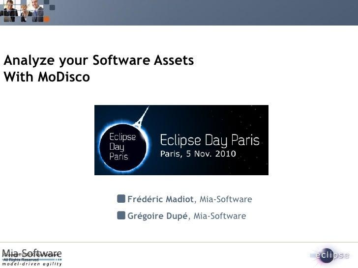 Analyze your software assets with Modisco par Frédéric Madiot