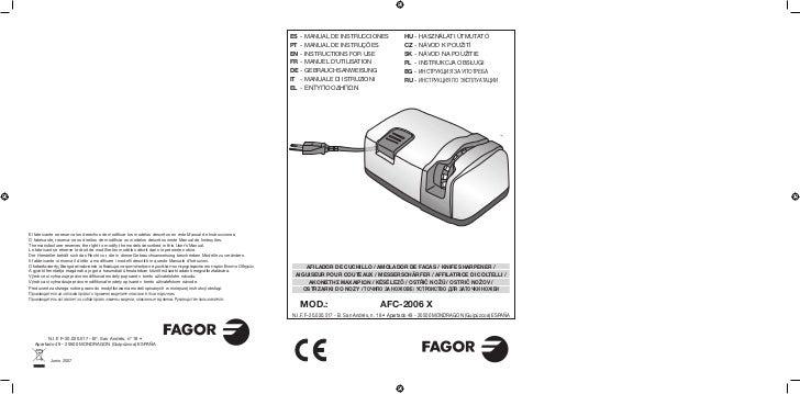 Mi afc 2006 x - Servicio Tecnico Fagor