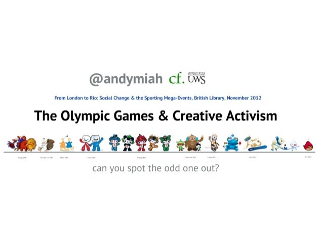 The Olympic Games and Creative Activism