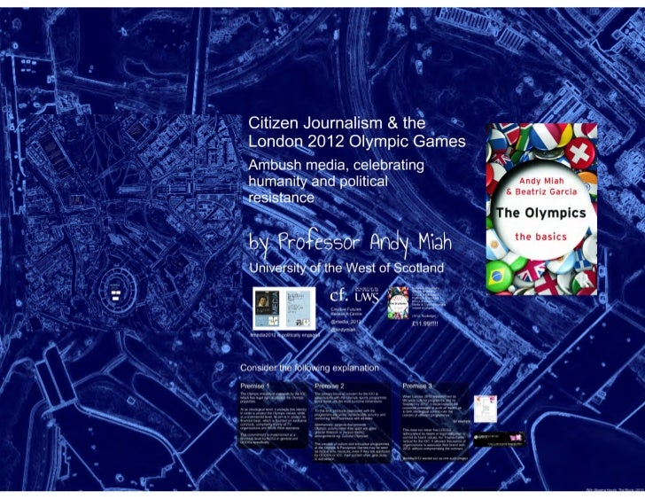 Citizen Journalism and the London 2012 Olympic Games: Ambush Media, Celebrating Humanity and Political Resistance