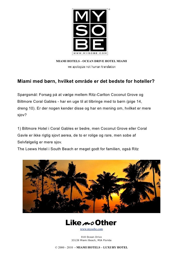 Miami With Kids Which Area Is The Best For Hotels Danish Bloccato