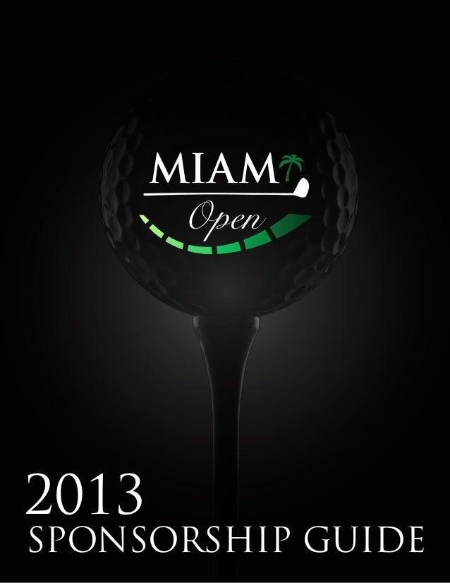 Miami golf open sponsor guide