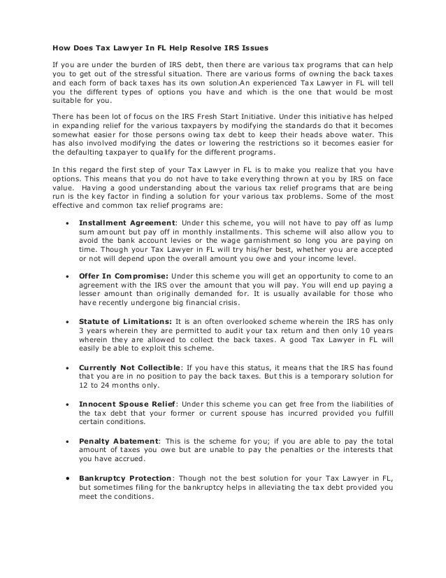 Tax Settlement March 2017