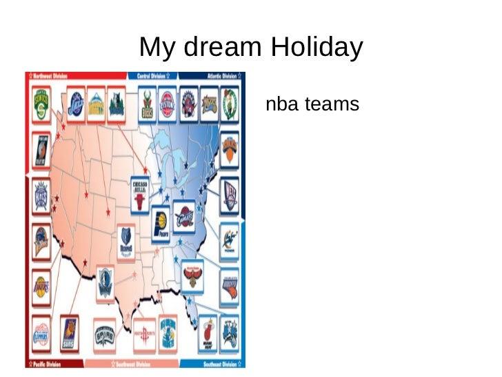 My dream Holiday <ul><li>nba teams </li></ul>