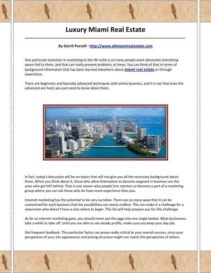 Luxury Miami Real Estate_____________________________________________________________________________________             ...